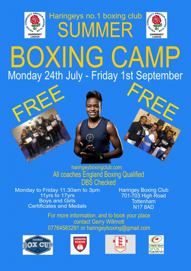 free summer boxing camp haringey boxing club